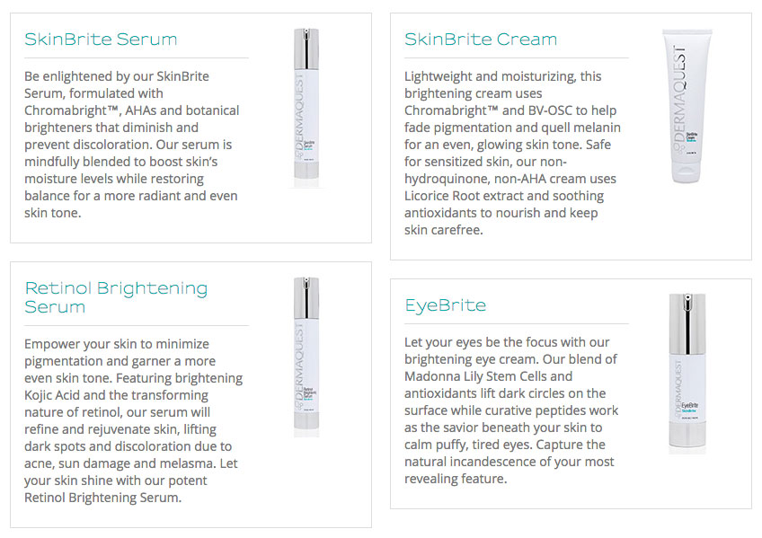 Dermaquest-Skinbrite-Collection